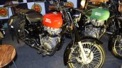 Royal Enfield Redditch series front three quarters at Surat International Auto Expo 2017