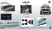 Tata Hexa Luxe accessories list