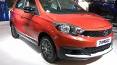 Tata Tiago with body kit front three quarters right side at Autocar Performance Show 2017
