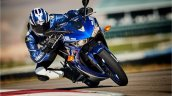 Yamaha R3 blue motion front