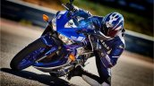Yamaha R3 blue motion