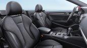 2017 Audi A3 Cabriolet front seats