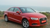 2017 Audi A3 sedan (facelift) front three quarter right First Drive Review