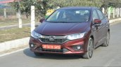 2017 Honda City ZX (facelift) front quarter dynamic First Drive Review