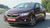 2017 Honda City ZX (facelift) front quarter left First Drive Review