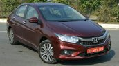 2017 Honda City ZX (facelift) front three quarter static First Drive Review