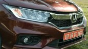 2017 Honda City ZX (facelift) headlamp grille foglamps First Drive Review