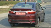 2017 Honda City ZX (facelift) rear quarter static First Drive Review