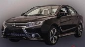 2017 Mitsubishi Grand Lancer front three quarters leaked image