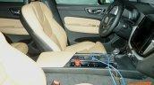2017 Volvo XC60 interior front seats spy shot