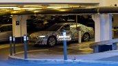 2018 Audi A8 front three quarters spy shot Copenhagen