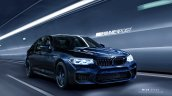 2018 BMW M5 front three quarters rendering fourth image