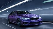 2018 BMW M5 front three quarters rendering second image