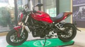 Benelli TNT750 spy shot side