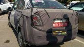 Chevrolet Beat Essentia rear three quarters left side spy shot