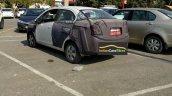 Chevrolet Beat Essentia rear three quarters spy shot