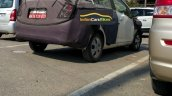 Chevrolet Beat Essentia rear threee quarters right side spy shot