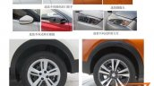 Chinese-spec Nissan Kicks wheel and other exterior details spy shot