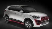 Hyundai Creta by DC Design front three quarters