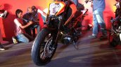 KTM Duke 250 front three quarter with headlamp at India launch