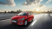 Next-gen 2017 Hyundai Solaris (2017 Hyundai Verna) front quarter red revealed