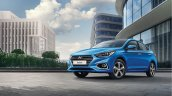 Next-gen 2017 Hyundai Solaris (2017 Hyundai Verna) front three quarter blue revealed