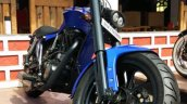 Royal Enfield Thunderbird Blue Evo by XLNC Customs front suspension