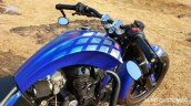 Royal Enfield Thunderbird Blue Evo by XLNC Customs fuel tank and mirrors