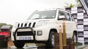 South African-spec Mahindra TUV300 front three quarters left side