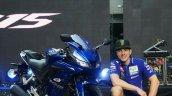 Yamaha R15 v3.0 Thailand Maverick Vinales front three quarter crounch