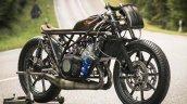 Yamaha RD350 Falcon by Moto Essence front three quarter