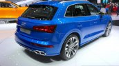 2017 Audi SQ5 rear quarter at the Geneva Motor Show