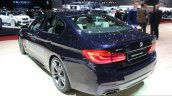 2017 BMW M550i rear quarter at the 2017 Geneva Motor Show Live