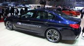2017 BMW M550i rear three quarter at the 2017 Geneva Motor Show Live
