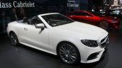 2017 Mercedes E-Class Cabriolet front three quarter at the 2017 Geneva Motor Show
