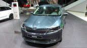 2017 Skoda Rapid (Facelift) front quarter at the 2017 Geneva Motor Show Live