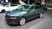 2017 Skoda Rapid (Facelift) front three quarter at the 2017 Geneva Motor Show Live