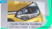 2017 Toyota Agya TRD S (facelift) headlamp