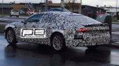 2018 Audi A7 rear three quarters left side spy shot