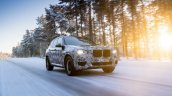2018 BMW X3 (BMW G01) front three quarters right side winter testing