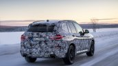 2018 BMW X3 (BMW G01) rear three quarters right side testing
