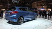 2018 Ford Fiesta ST rear three quarter at the 2017 Geneva Motor Show Live