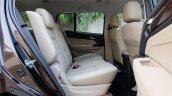 India-bound 2017 Isuzu MU-X (facelift) rear seat image