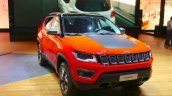 India-bound Jeep Compass Trailhawk front at the Geneva Motor Show Live