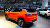 India-bound Jeep Compass Trailhawk rear three quarter at the Geneva Motor Show Live