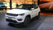 India-bound Jeep Compass front quarter at the Geneva Motor Show Live