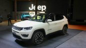 India-bound Jeep Compass front three quarter at the Geneva Motor Show Live