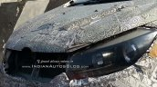 Mahindra U321 MPV (Toyota Innova rival) headlamp spied on test