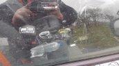 Mercedes X-Class interior spy shot