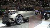 Range Rover Velar front quarter at the Geneva Motor Show